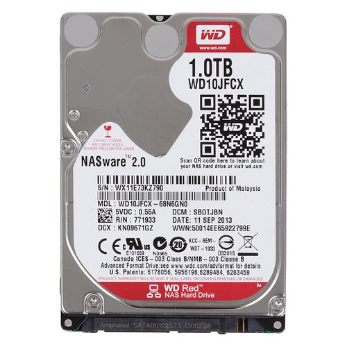 Жесткий диск WD Red WD10JFCX, 1Тб, HDD, SATA III, 2.5 жесткий диск wd blue wd10ezrz 1тб hdd sata iii 3 5