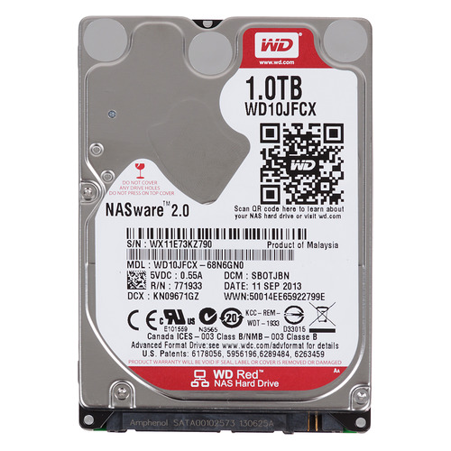 Жесткий диск WD Red WD10JFCX, 1Тб, HDD, SATA III, 2.5