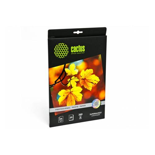 Фотобумага Cactus Prof CS-HGA426020 A4/260г/м2/20л./белый глянцевое для струйной печати бумага cactus cs hga626020 professional 10x15см 260г кв м суперглянцевая 20л