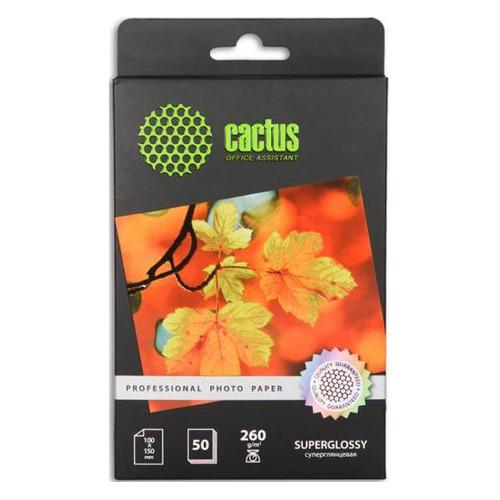 Фотобумага Cactus Prof CS-HGA626050 10x15/260г/м2/50л./белый глянцевое для струйной печати бумага cactus cs hga626020 professional 10x15см 260г кв м суперглянцевая 20л