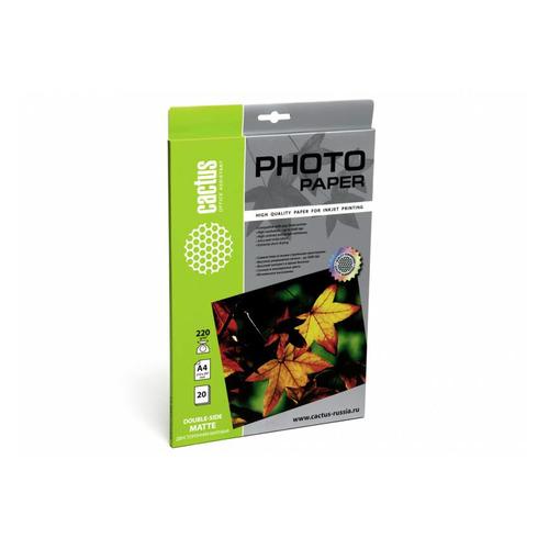 Фотобумага Cactus CS-MA422020DS A4/220г/м2/20л. матовое для струйной печати