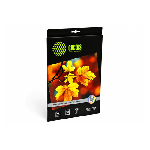 Фотобумага Cactus Prof CS-SGA426020 A4/260г/м2/20л./белый полуглянцевое для струйной печати бумага cactus cs hga626020 professional 10x15см 260г кв м суперглянцевая 20л