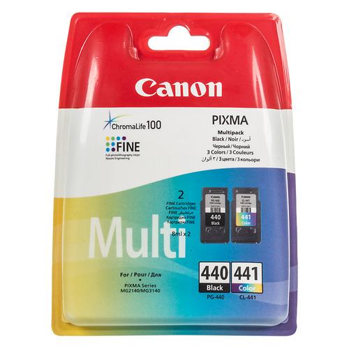 цена на Картридж (двойная упаковка) CANON PG-440/CL-441, черный / трехцветный [5219b005]