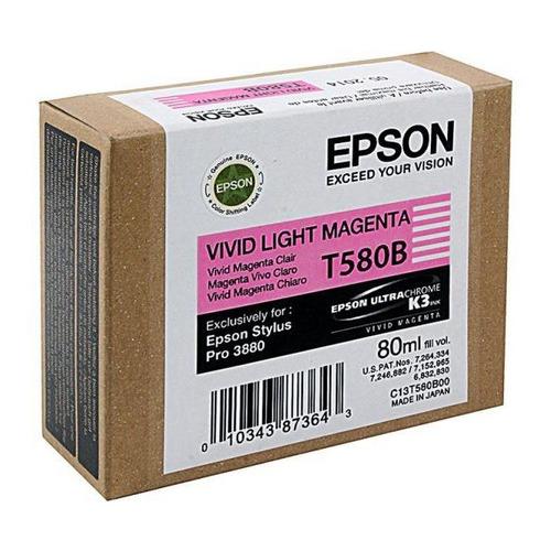 Картридж EPSON T580B, светло-пурпурный [c13t580b00] цена и фото