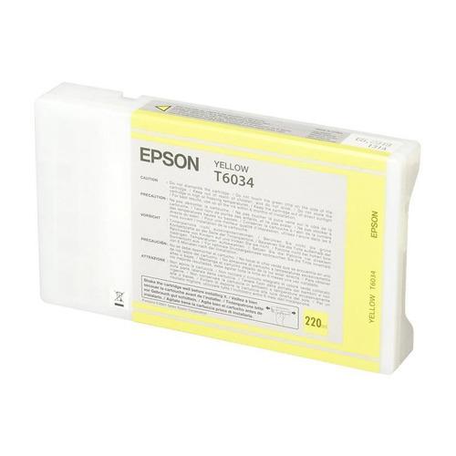 Картридж EPSON T6034, желтый [c13t603400] картридж epson t6037 c13t603700 для epson st pro 7880 9880 серый
