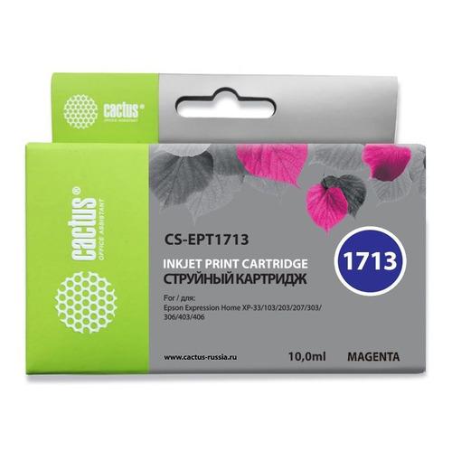 Картридж CACTUS CS-EPT1713, пурпурный струйный картридж cactus cs ept1713 пурпурный для epson expression home xp 33 103 203 207 303 306 403 406