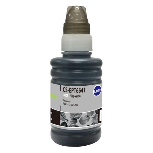 Чернила CACTUS CS-EPT6641, для Epson, 100мл, черный cactus cs ept6641 250