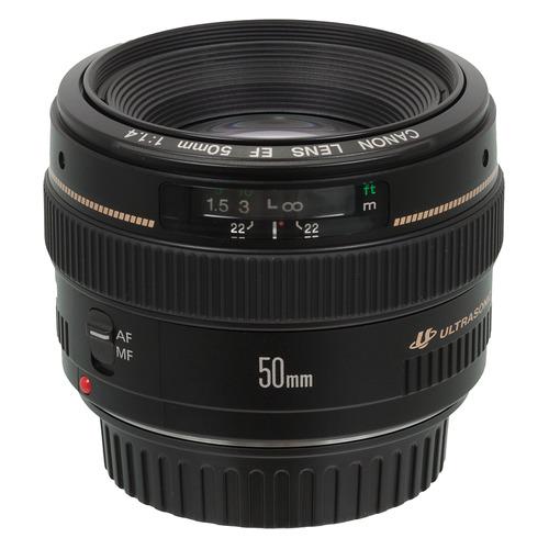 лучшая цена Объектив CANON 50mm f/1.4 EF USM, Canon EF [2515a012]