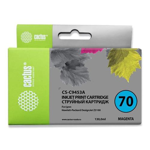 Картридж CACTUS CS-C9453A, №70, пурпурный картридж cactus cs q6463ar пурпурный