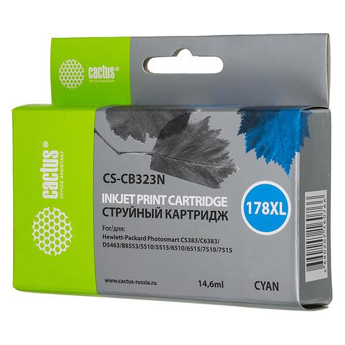 Картридж CACTUS CS-CB323N(CS-CB323), №178XL, синий cactus cs rk cb317 320 color заправка для hp photosmart b8553 c5383 c6383 d5463 5510 5515 6510 6515
