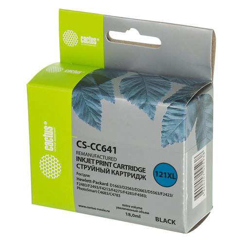 Картридж CACTUS CS-CC641, №121XL, черный цена 2017