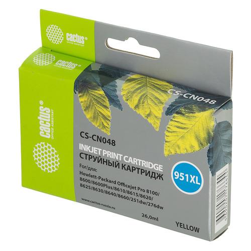 Картридж CACTUS CS-CN048, №951XL, желтый картридж cactus cs cn047 951xl для hp dj pro 8100 8600 purple
