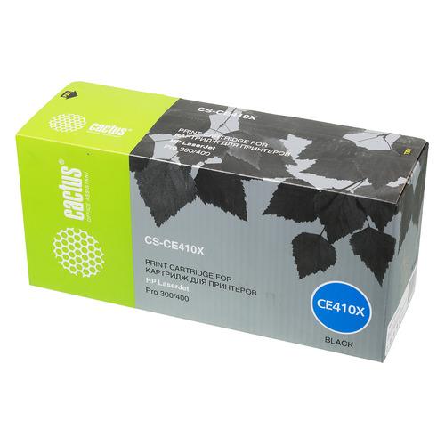 Картридж CACTUS CS-CE410X, черный картридж nv print ce410x black для нewlett packard clj color m351 m375 m451 m475 4000k