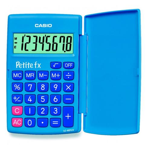 цена Калькулятор CASIO LC-401LV-BU, 8-разрядный, голубой онлайн в 2017 году