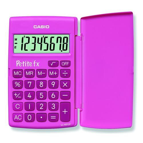 цена Калькулятор CASIO LC-401LV-PK, 8-разрядный, розовый онлайн в 2017 году