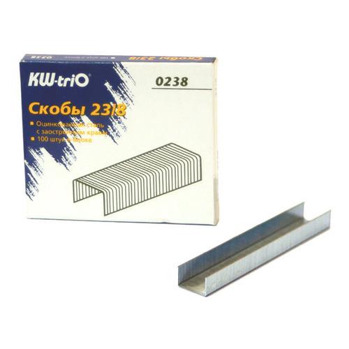 Фото - Упаковка скоб для степлера KW-TRIO 0238, 23/8, 1000шт, картонная коробка 20 шт./кор. упаковка скоб для степлера kw trio 0246 24 6 1000шт картонная коробка 20 шт кор