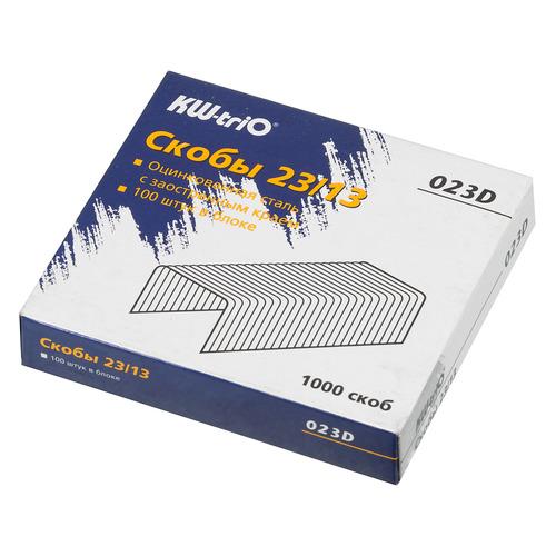 Фото - Упаковка скоб для степлера KW-TRIO 023D, 23/13, 1000шт, картонная коробка 15 шт./кор. упаковка скоб для степлера kw trio 0246 24 6 1000шт картонная коробка 20 шт кор