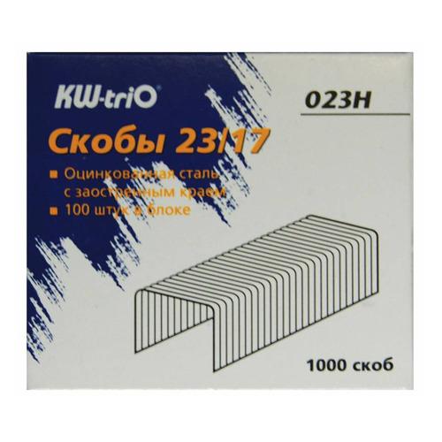 Фото - Упаковка скоб для степлера KW-TRIO 023H, 23/17, 1000шт, картонная коробка 20 шт./кор. упаковка скоб для степлера kw trio 0246 24 6 1000шт картонная коробка 20 шт кор