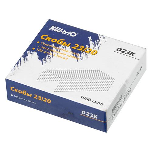 Фото - Упаковка скоб для степлера KW-TRIO 023K, 23/20, 1000шт, картонная коробка 20 шт./кор. упаковка скоб для степлера kw trio 0246 24 6 1000шт картонная коробка 20 шт кор