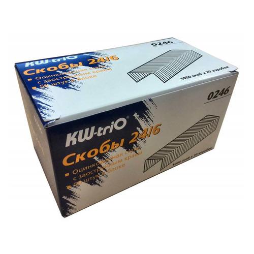 Фото - Упаковка скоб для степлера KW-TRIO 0246/20, 24/6, 20x1000 упаковка скоб для степлера kw trio 0246 24 6 1000шт картонная коробка 20 шт кор