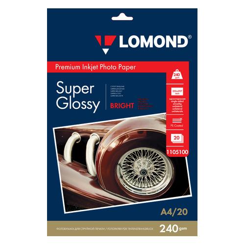 Фотобумага Lomond 1105100 A4/240г/м2/20л