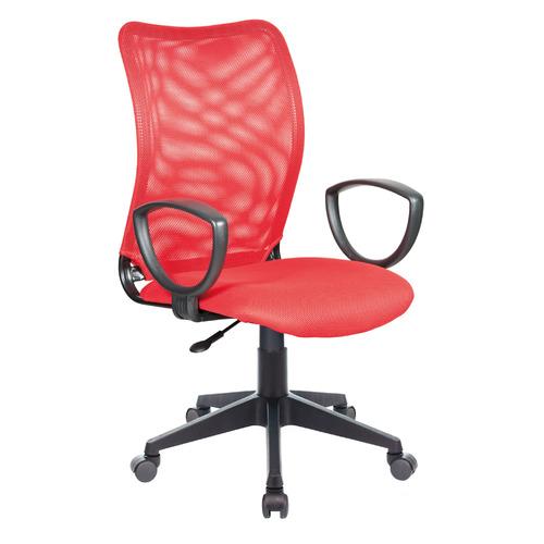 Кресло БЮРОКРАТ CH-599AXSN, на колесиках, ткань, красный [ch-599/r/tw-97n] кресло buro ch 599 r tw 97n спинка сетка красный tw 35n сиденье красный tw 97n