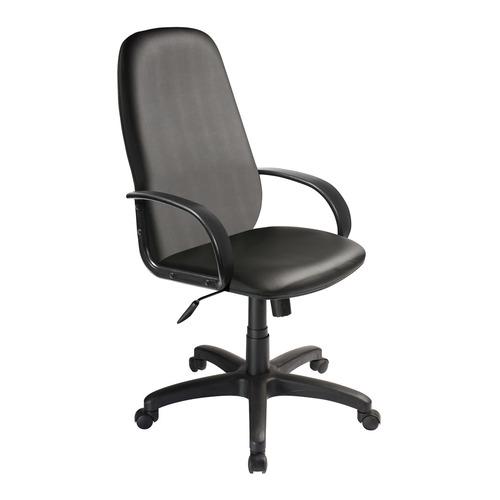 Кресло руководителя БЮРОКРАТ CH-808AXSN, на колесиках, искусственная кожа, черный [ch-808axsn/or-16] кресло руководителя бюрократ ch 808axsn на колесиках ткань темно серый [ch 808axsn g]