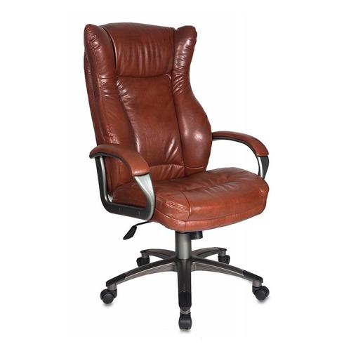 Кресло руководителя БЮРОКРАТ CH-879, на колесиках, искусственная кожа, коричневый [ch-879dg/brown] кресло руководителя бюрократ ch 879dg brown коричневый искусственная кожа пластик темно серый