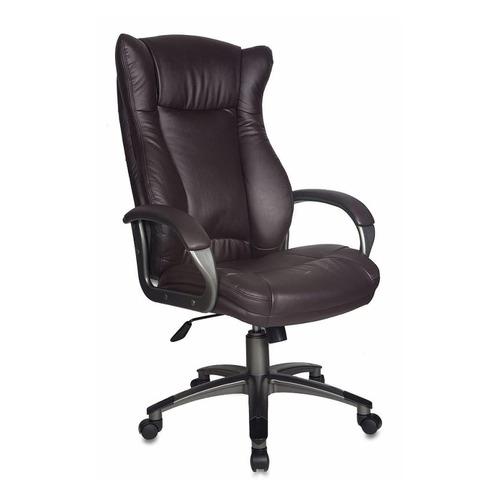 Кресло руководителя БЮРОКРАТ CH-879, на колесиках, искусственная кожа, темно-коричневый [ch-879dg/coffee] кресло руководителя бюрократ ch 879dg brown коричневый искусственная кожа пластик темно серый