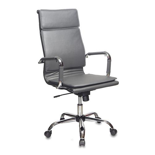 Кресло руководителя БЮРОКРАТ CH-993, на колесиках, искусственная кожа, серый [ch-993/grey] кресло бюрократ ch 1399 на колесиках искусственная кожа серый [ch 1399 grey]
