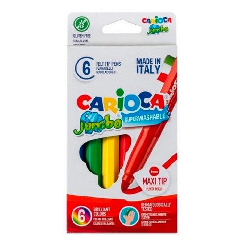Фото - Упаковка фломастеров CARIOCA 40568, смываемые, 6 цв., коробка с европодвесом 24 шт./кор. краски акварельные carioca 42401 24цв 30мм кисть пл кор 6 шт кор