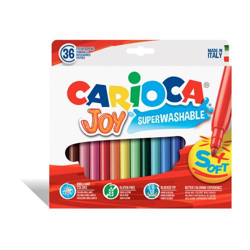 Фломастеры Carioca Joy 40616 36цв. коробка с европодвесом 6 шт./кор. цена