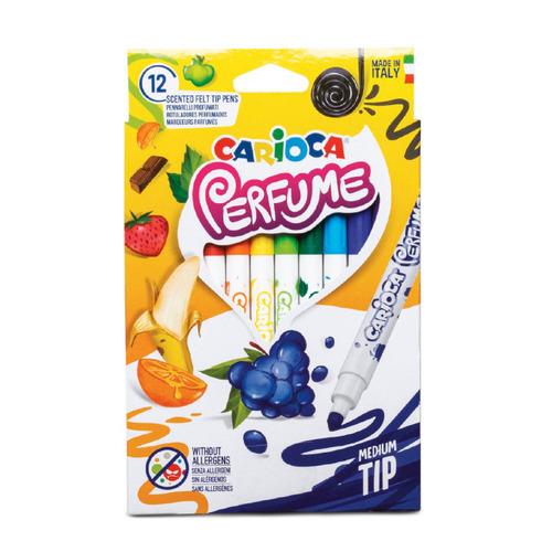 Фломастеры Carioca PERFUME XPLOSION 42672 12цв. ароматизированные чернила коробка с европодвесом 12 шт./кор. фломастеры carioca bi color 42269 12цв двусторонние 6шт 24 шт кор