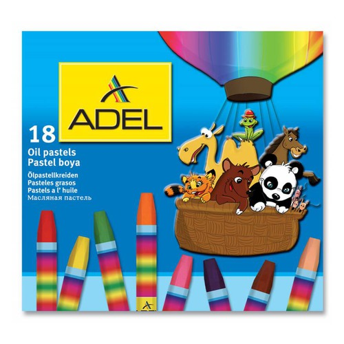 Масляная пастель Adel Colour 428-0857-000 шестигранные 18цв.д.11.5мм картон.кор. 6 шт./кор. phantom cam 0857