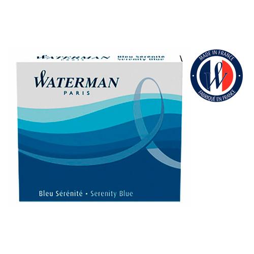 Картридж Waterman International 52012 (S0110950) синие чернила для ручек перьевых (6шт) картридж waterman international 52011 s0110940 черный чернила для ручек перьевых 6шт