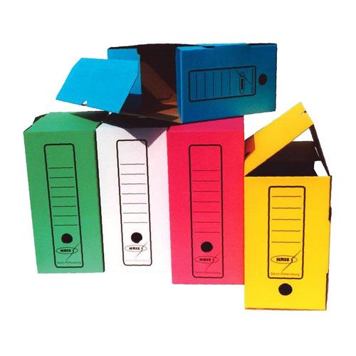 цена на Короб архивный Бюрократ KKA-200 микрогофрокартон корешок 200мм A4 260x320x200мм ассорти 40 шт./кор.
