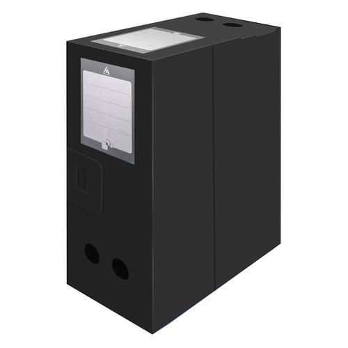 Короб архивный вырубная застежка Бюрократ -BA100/08BLCK пластик 0.8мм корешок 100мм 330х245мм черный 30 шт./кор. короб архивный вырубная застежка бюрократ ba80 08blck пластик 0 8мм корешок 80мм 330х245мм черный