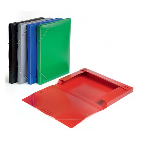 Папка-короб на резинке Бюрократ -BA25/05 пластик 0.5мм корешок 25мм A4 ассорти 30 шт./кор. короб архивный вырубная застежка бюрократ ba80 08blck пластик 0 8мм корешок 80мм 330х245мм черный
