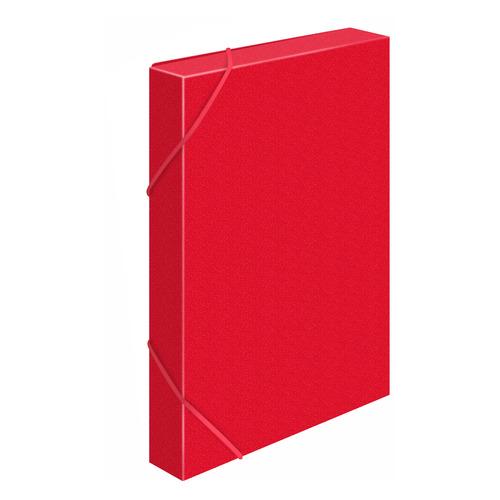 Папка-короб на резинке Бюрократ -BA25/05RED пластик 0.5мм корешок 25мм A4 красный 30 шт./кор. папка короб бюрократ ba25 05grn цвет зеленый на резинке 816202