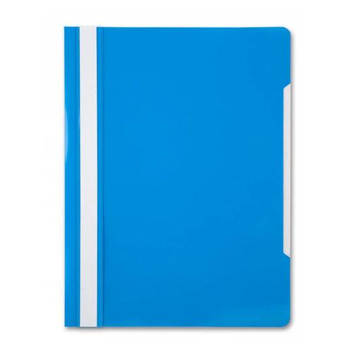 Фото - Папка-скоросшиватель Бюрократ -PS20AZURE A4 прозрач.верх.лист пластик голубой 0.12/0.16 200 шт./кор. папка 60ф a4 gems голубой пластик 0 7мм