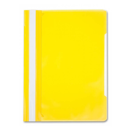 Папка-скоросшиватель Бюрократ -PS-K20YEL A4 прозрач.верх.лист карм.на лиц.стор. пластик желтый 0.12/ 20 шт./кор. цены