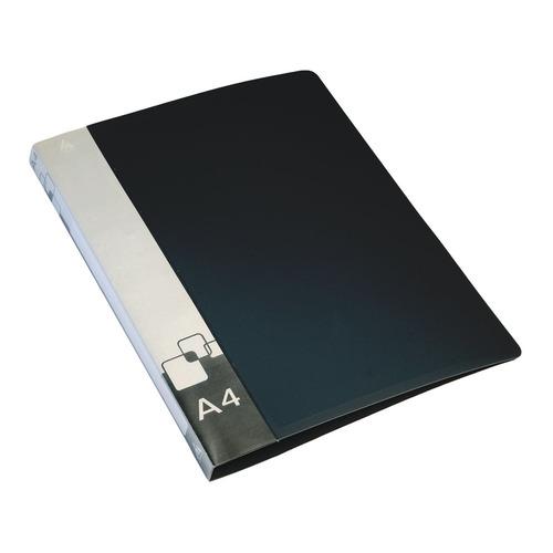 цена на Папка на 2-х D-кольцах Бюрократ -0840/2DBLCK A4 пластик 0.8мм кор.40мм внут.и торц.карм черный 16 шт./кор.