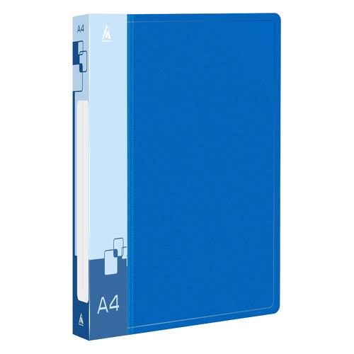 цена на Папка на 2-х D-кольцах Бюрократ -0840/2DBLU A4 пластик 0.8мм кор.40мм внут.и торц.карм синий 16 шт./кор.
