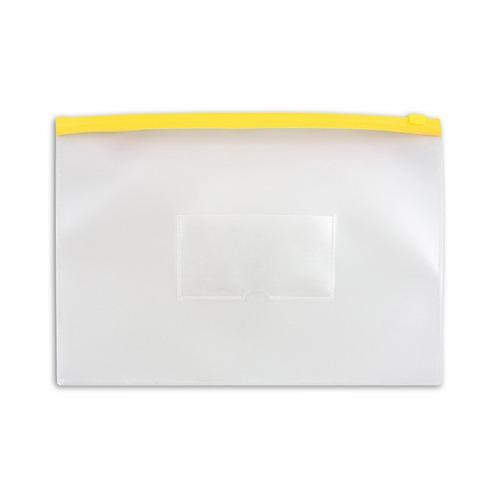 Папка на молнии ZIP Бюрократ -BPM4AYEL A4+ полипропилен 0.15мм карм.для визит. цвет молнии желтый 12 шт./кор. папка на молнии zip бюрократ bpm4ared a4 полипропилен 0 15мм карм для визит цвет молнии красный 12 шт кор