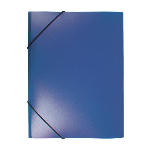 Папка на резинке Бюрократ -PR04BLU A4 пластик кор.15мм 0.4мм синий 80 шт./кор. папка на резинке природные цветы a4 в ассортименте