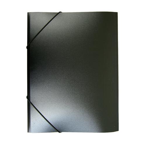 Папка на резинке Бюрократ -PR05BLCK A4 пластик кор.30мм 0.5мм черный 60 шт./кор. папка на резинке бюрократ crystal cr510 a4 пластик кор 30мм 0 5мм ассорти 60 шт кор