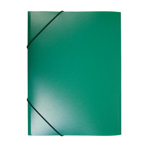 Папка на резинке Бюрократ -PR05GRN A4 пластик кор.30мм 0.5мм зеленый 60 шт./кор. папка короб бюрократ ba25 05grn цвет зеленый на резинке 816202