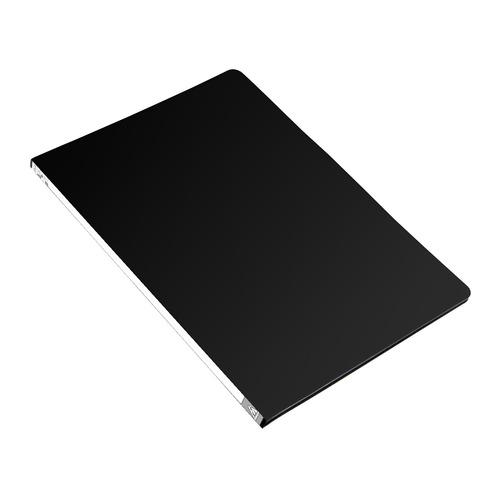 Папка с метал.зажим Бюрократ -PZ05CBLCK A4 пластик 0.5мм торц.наклейка черный 44 шт./кор. наклейка