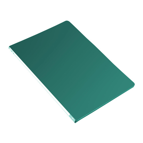 Папка с метал.зажим Бюрократ -PZ05CGREEN A4 пластик 0.5мм торц.наклейка зеленый 44 шт./кор. наклейка