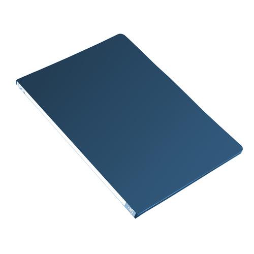 Папка с метал.пруж.скоросш. Бюрократ -PZ05PBLUE A4 пластик 0.5мм торц.наклейка синий 44 шт./кор. наклейка